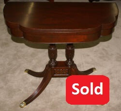 Antique mahogany flip top Duncan Phyfe game table