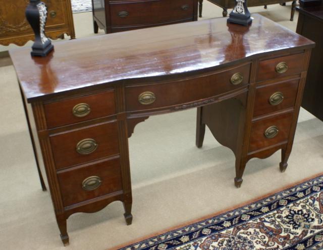mahogany bow front vanity, antique mahogany vanity - Antique VanityMahogany Vanity
