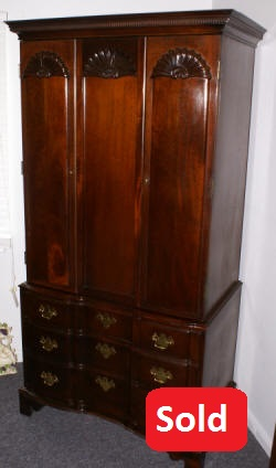 mahogany 2 door inlaid wardrobe